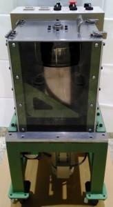 小型ディップスピンコーターのデモ機、側面1。
