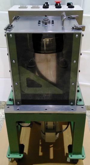 小型ディップスピンコーター、側面1。